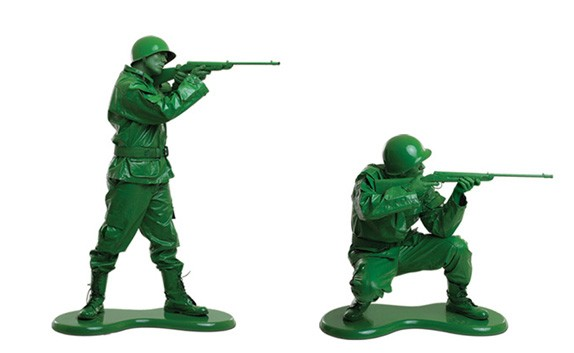 Green Army Toy Soldiers Peek-a-boo, icu the american philosopher